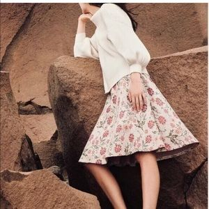 Anthropologie Skirts - Anthropologie $188 Meadowlark sweater skirt floral
